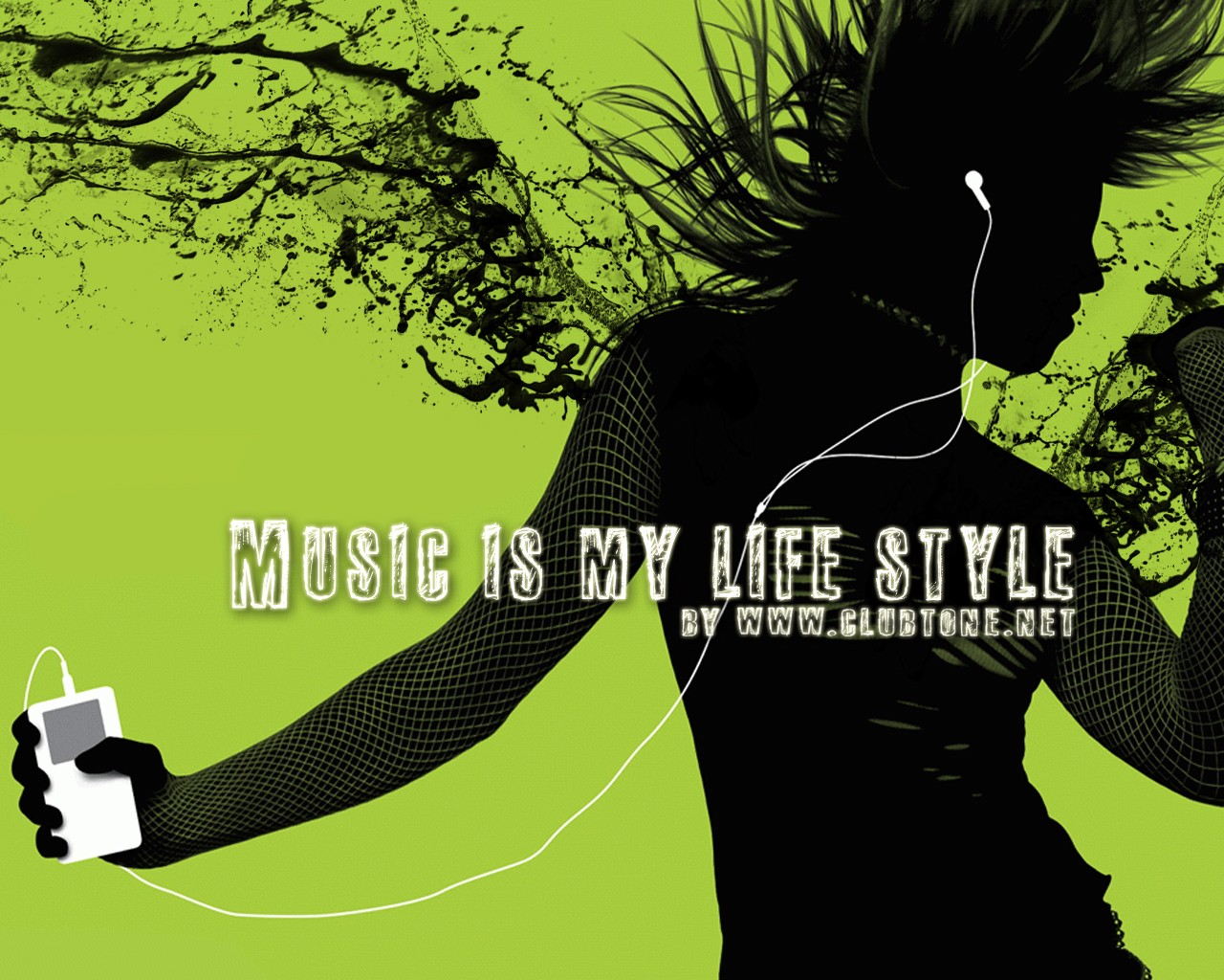 music is my life style, плеер, девушка