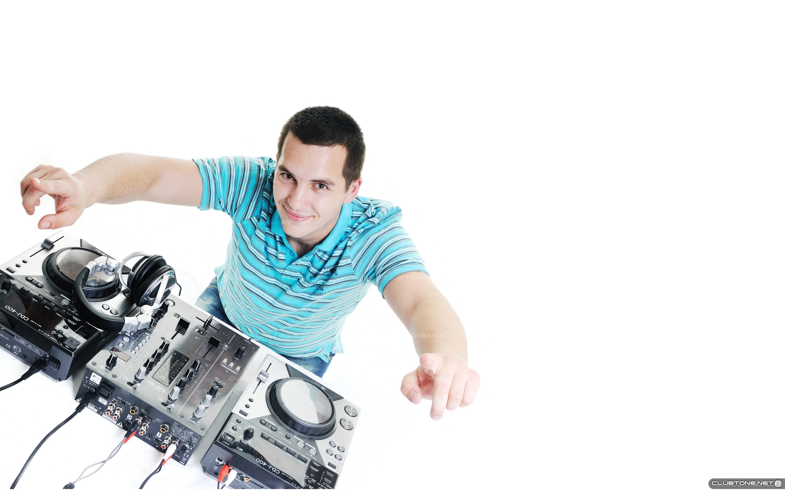 DJ on a white background