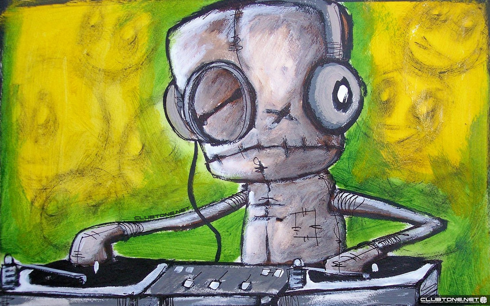 watercolor DJ