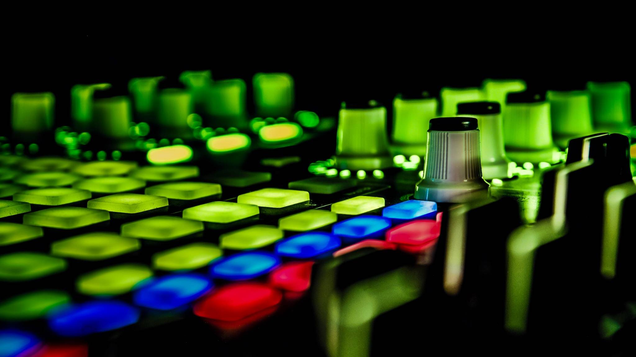 green music dj light