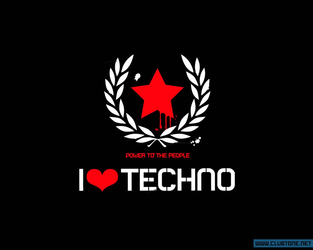 I LOVE TECHNO, звезда, техно, power of people