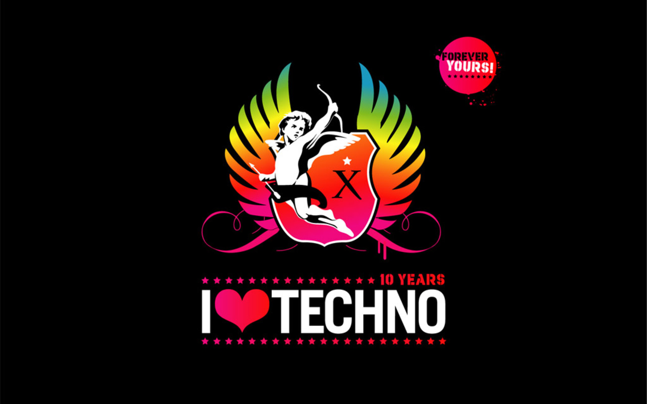 techno angels, i love techno 10 years