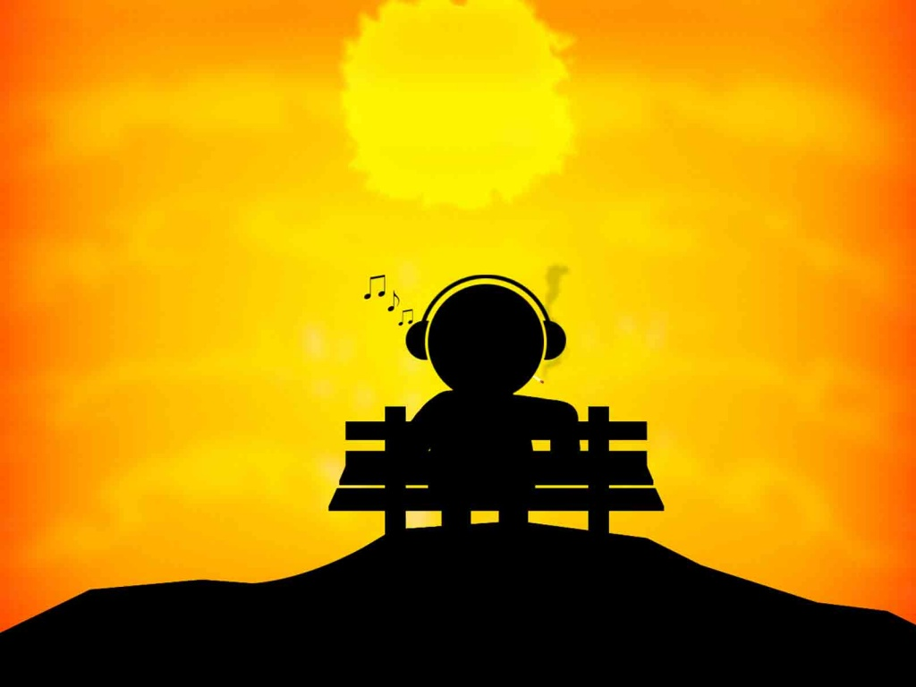 music at sunset